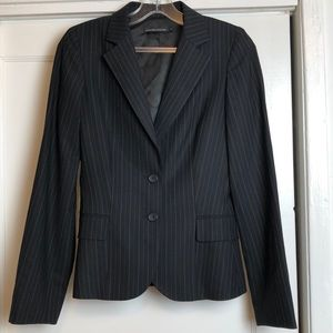 EUC Club Monaco pinstripe suit jacket sz 0